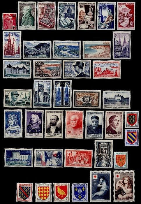 Frankreich 1954/1955 - Lot with 2 full years - Yvert  n°968 au n°1049