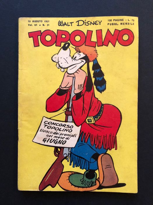 Topolino #31 - con bollino - Stapled - First Edition - (1951)
