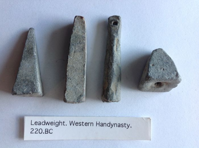China - Lot of 4 Fishing net weights / Token- West Han period (220.BC.) - Lead