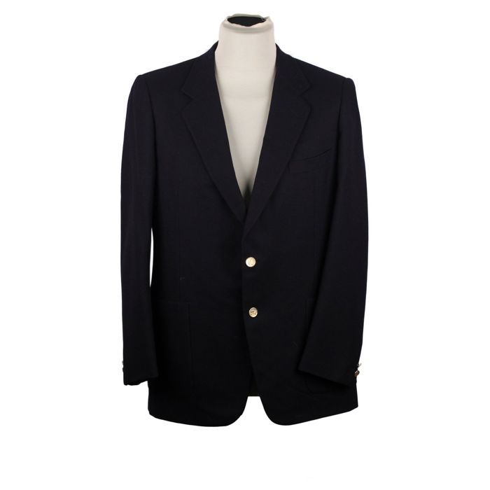 BURBERRY Black Wool 2 BUTTON BLAZER Men Jacket