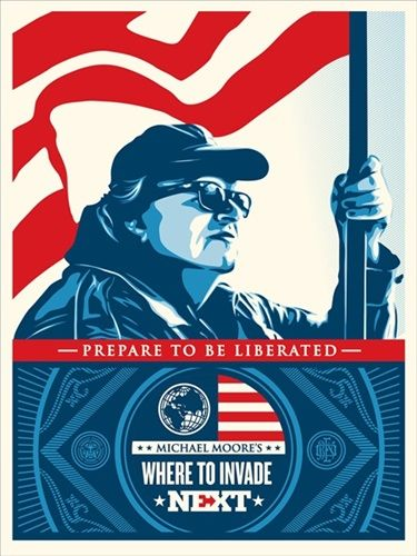 Shepard Fairey (OBEY) - Where To Invade Next + Poster and Stickers