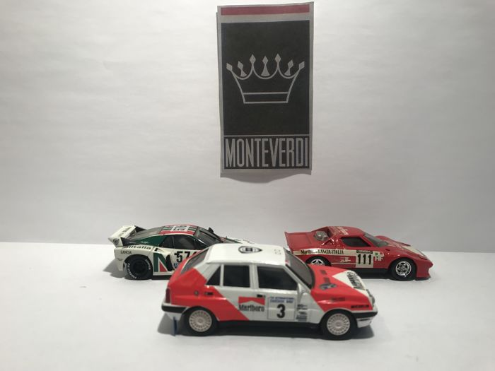 Vitesse - 1:43 - Lot with 3 Lancia Racing Models - Gemaakt in Portugal