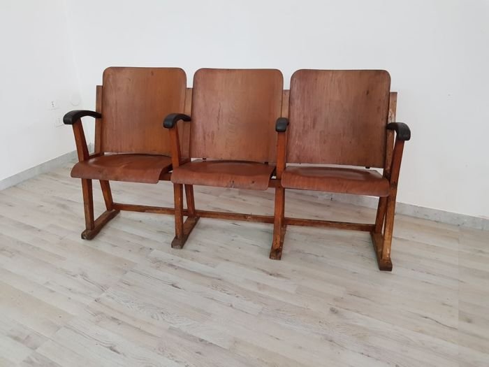 Unknown designer - Wooden cinema chairs