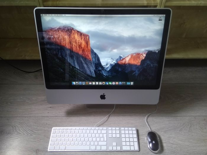 "Apple iMac 24"" (Early 2008) - Intel C2D 3.06Ghz, 4GB RAM, 500GB HDD, Superdrive, OS X El Capitan - with Apple keyboard & mouse"