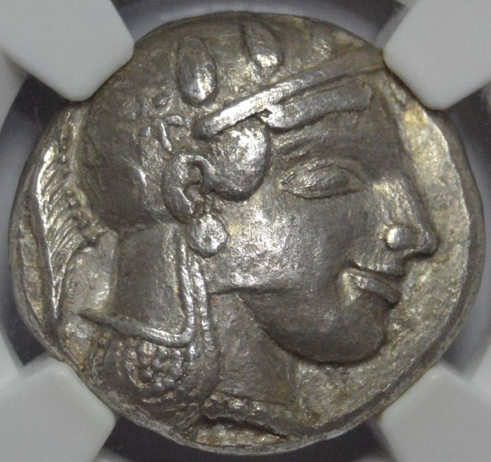 Greece (ancient) - Attica, Athens. AR Silver Tetradrachm ( 17.02 g), ca. 465/2-460 BC. Transitional issue.  - Silver