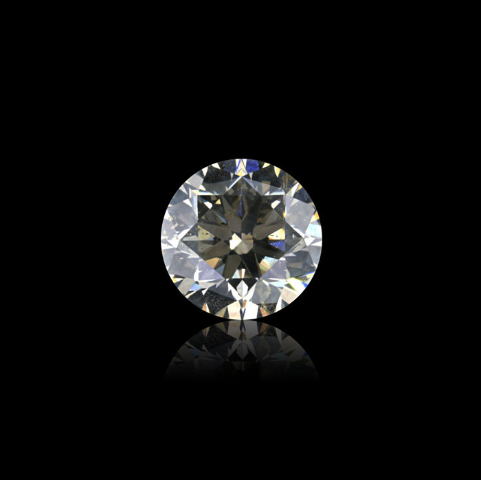 0.52 Ct. Natural L Color Round Brilliant cut diamond.