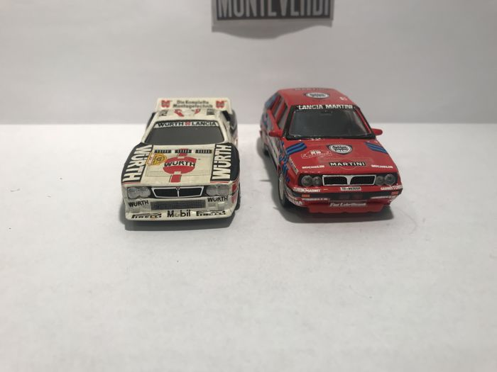 Vitesse - 1:43 - Lot with 2 models: Lancia Models - Delta Integrale & 037 Rally - Gemaakt in Portugal