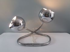 Reggiani - 'Serpente' table lamp with two chromed spheres