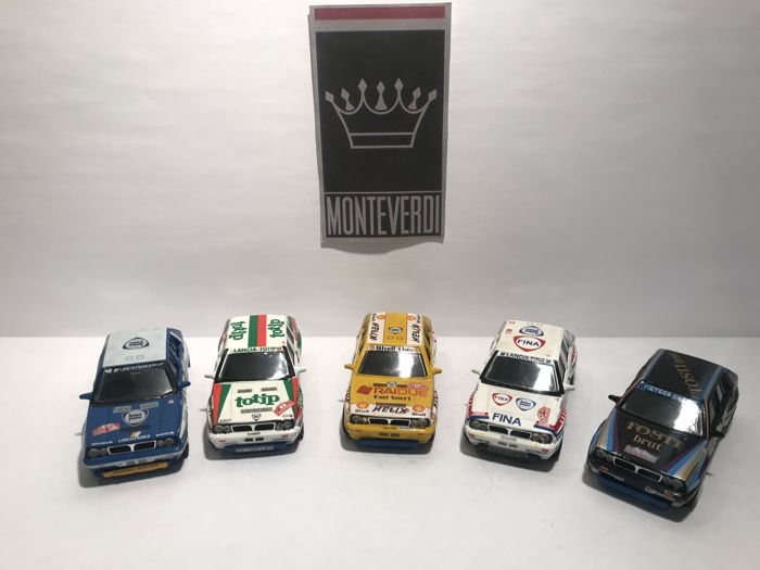 Vitesse - 1:43 - Lot with 5 models: Lancia Delta Inegrale - Gemaakt in Portugal