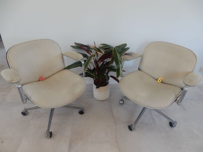 Ico Parisi for M.I.M Roma - Pair of Adjustable office armchairs