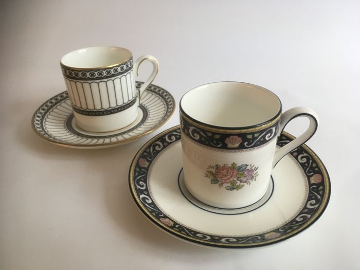 Wedgwood - 2 cups and saucers Bunnymede & Colonnade