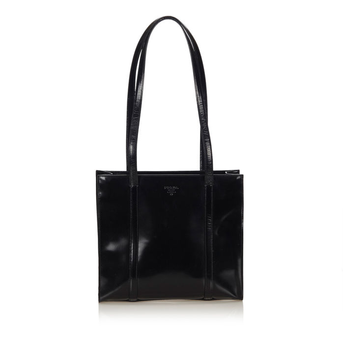 46fbfac3f60f Prada - Patent Leather Tote Bag - Catawiki