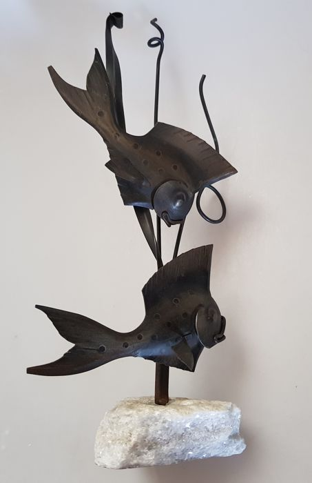 Unknown artisan - decorative metalware fish