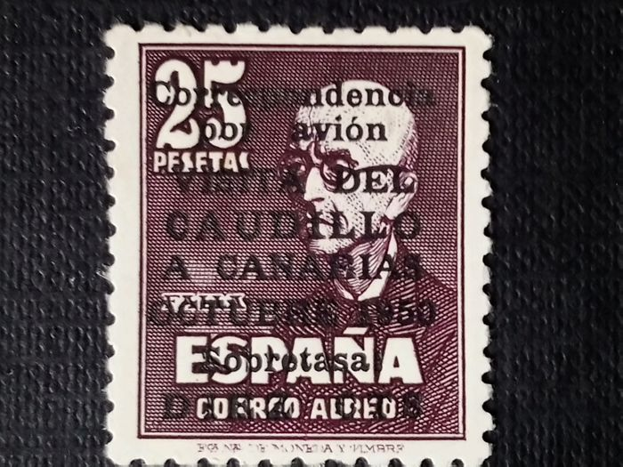 Spain 1951 - The Caudillo visit to the Canary Islands Comex Certificate - Edifil 1090