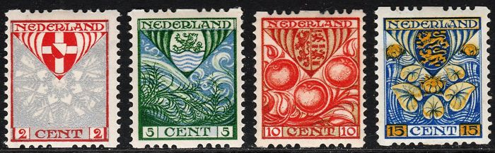Netherlands 1926 - Children's stamps - NVPH R74/R77