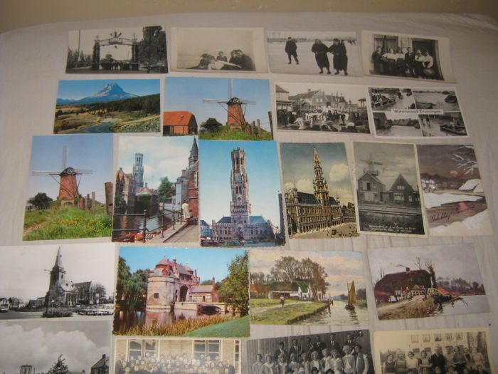 mint vintage postcards virtually all from the Netherlands 1910 / 1960 50 pieces