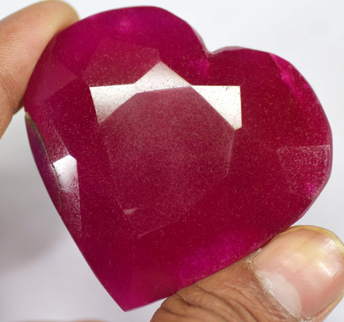 Huge Red African Ruby 318ct - 55×52×15 mm - 63.6 g