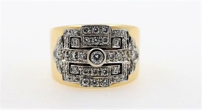 18 quilates Oro blanco - Anillo - 1.00 ct Diamante