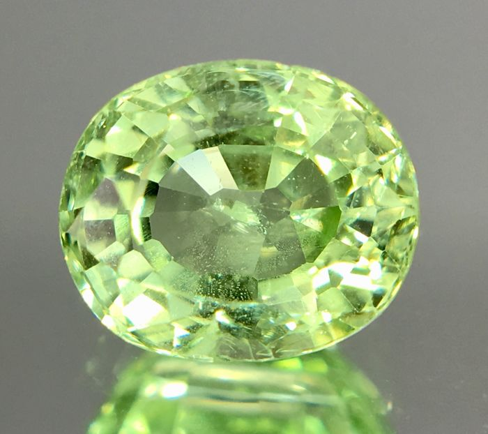 Grossularite Garnet - Light Yellow Green - 1.39 Ct