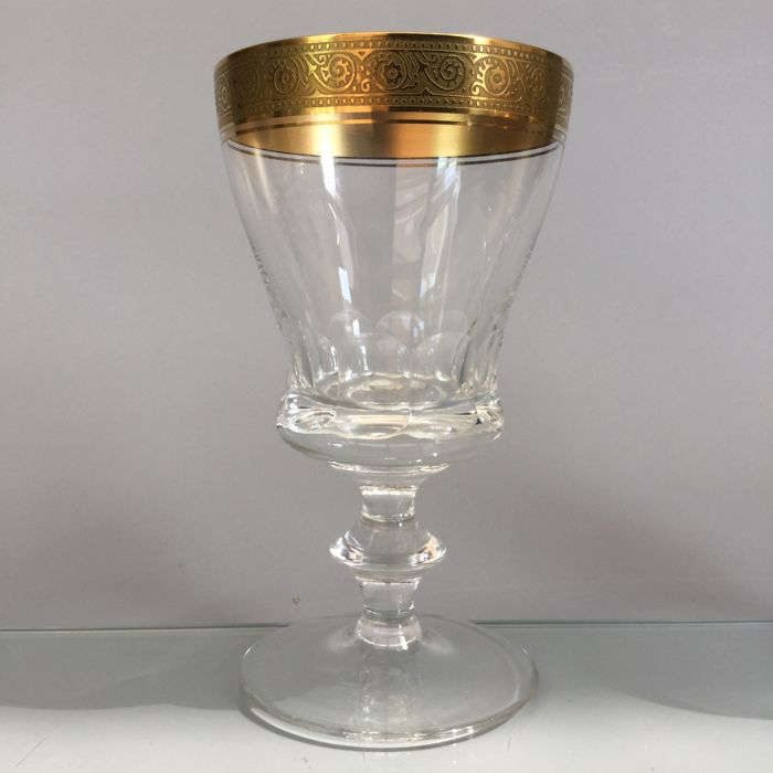 Moser Karlsbad - 6wine glasses with etched rim