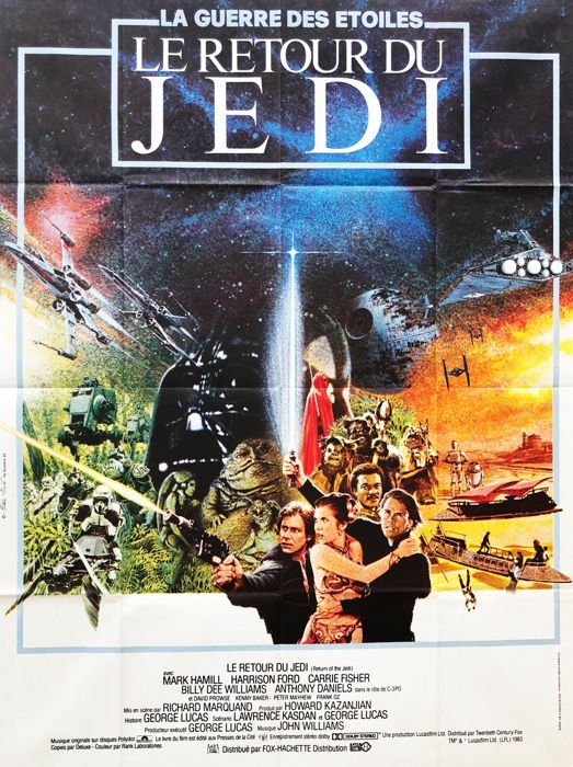 unknown movie poster Return of the Jedi