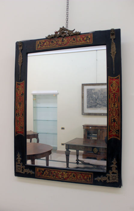 Boulle inlaid mirror frame - France - 19th century