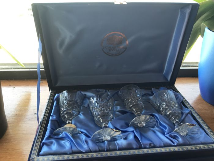 Thomas Webb - Set of sherry glasses, high quality crystal from the 'Old Warwick' suite