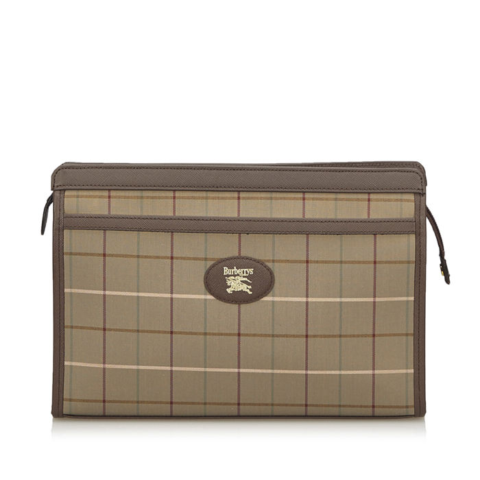 Burberry - Plaid Jacquard Clutch Bag