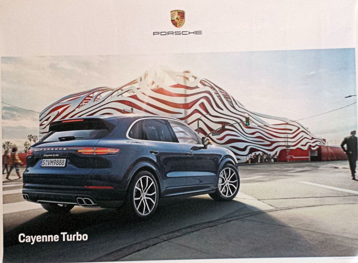 Poster - Porsche Cayenne Turbo -Showroomposter - 2017 (3 items)