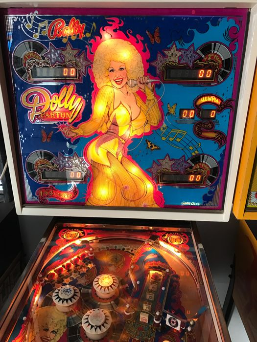 "Bally ""Dolly Parton"" pinball machine from 1978"