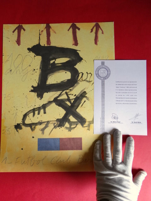FC Barcelona - Antoni Tapies - Certificate of Authenticity - 1999 - Lithography