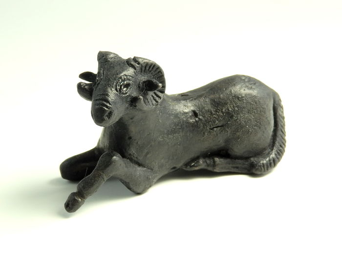 Ancient Roman Bronze Recumbent Ram - 6.9cm length