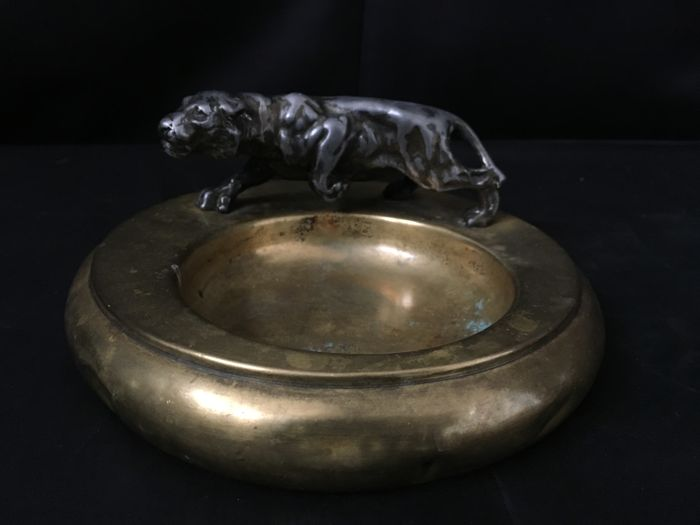 Copper Based Bowl With Puma Hand Made