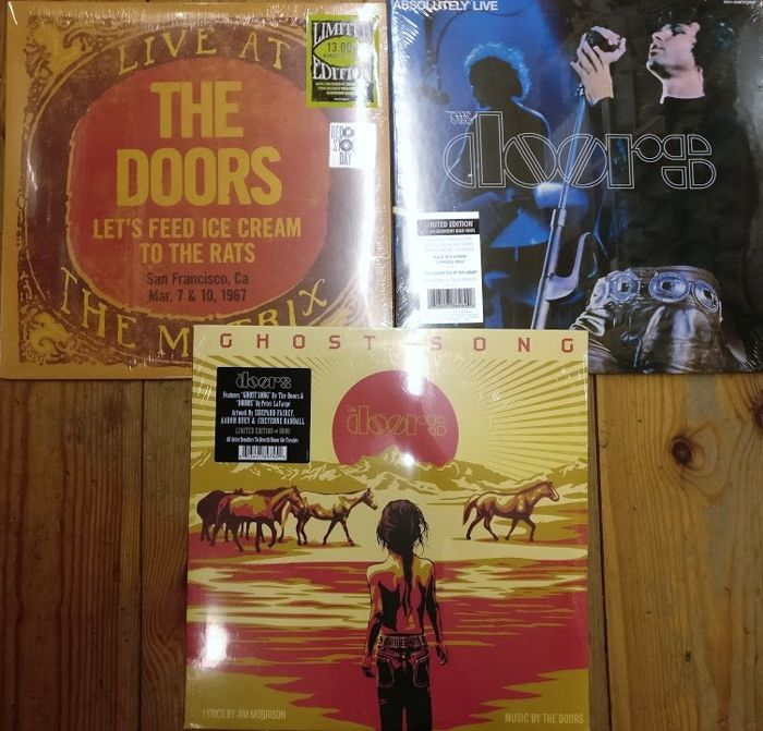 Three albums from The Doors || Live At The Matrix 1967 + Absolutely Live + Ghost Song || Mint and sealed