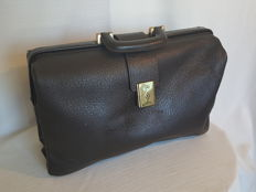"Brown vintage leather doctor's bag ""Ivoli"""