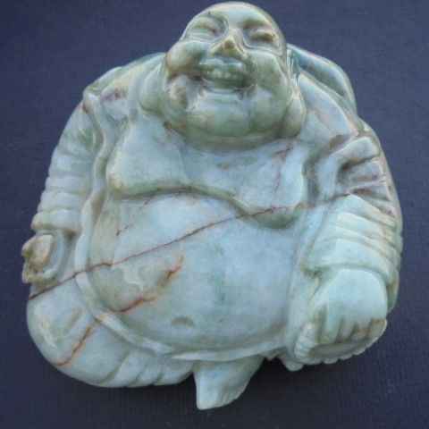 Carved hardstone Buddha Figure - China - late 20th century