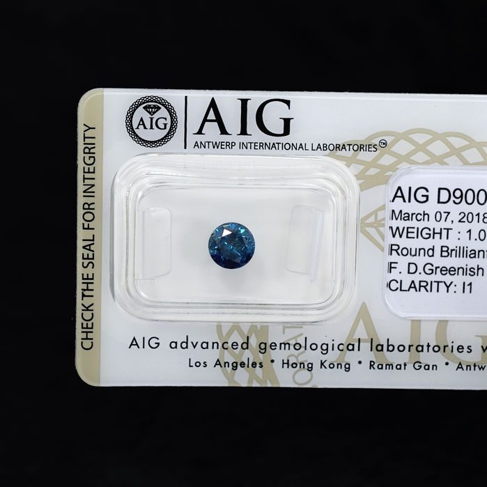 Blue Diamond - 1.01 ct