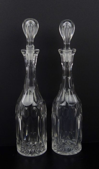 Two identical Victorian carafes