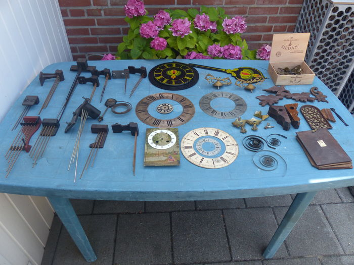 Collection of clock parts