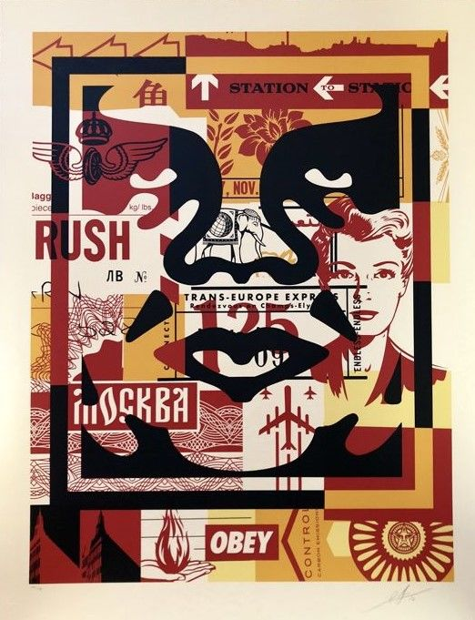 Shepard Fairey (OBEY) - Collage Icon Middle (Large Format)