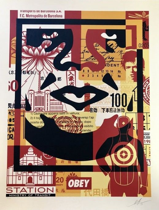 Shepard Fairey (OBEY) - Collage Icon Bottom (Large Format)