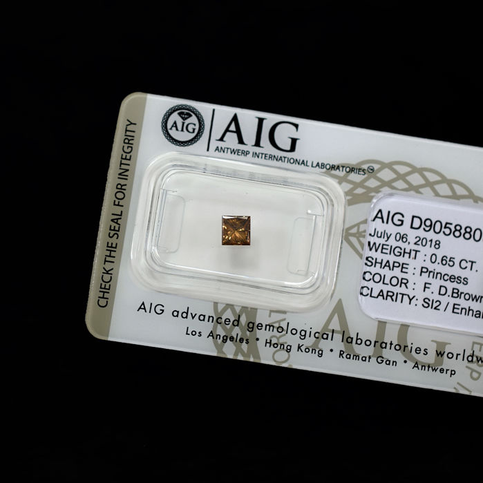 Cognac Diamond - 0.65 ct, NO RESERVE PRICE