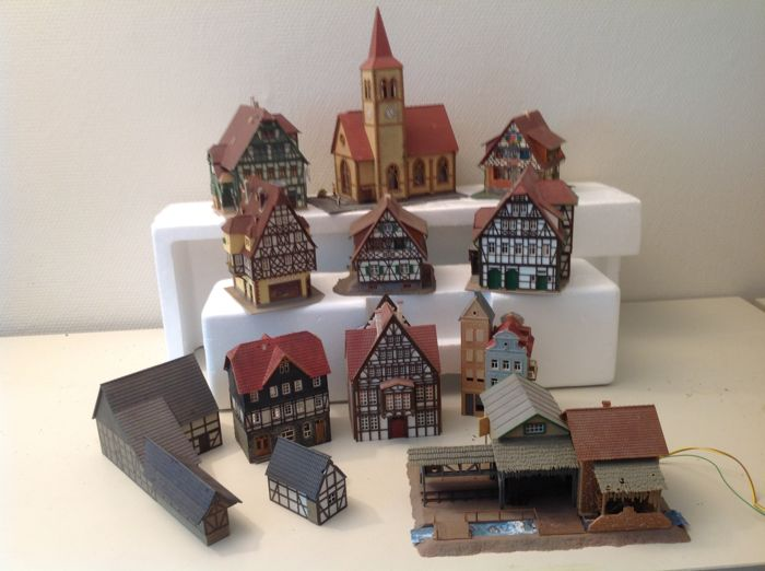 Faller, Pola, Vollmer H0 - Scenery - Craft town