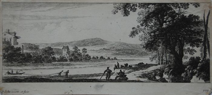 Perelle Family (17th century) - Rivier landschap
