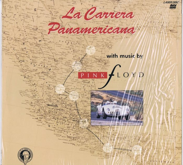 "Pink Floyd - 12"" Laserdisc movie:  La Carrera Panamericana (music Pink Floyd) (Sony Music Video Enterprises ‎– MLV49128) USA 1992 Laserdisc"