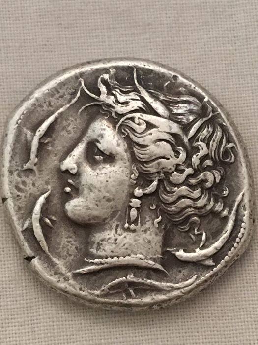 Greece (ancient) - Sicilia, Siculo-Punica, Tetradramma, c. 320-315 a.C. - Silver