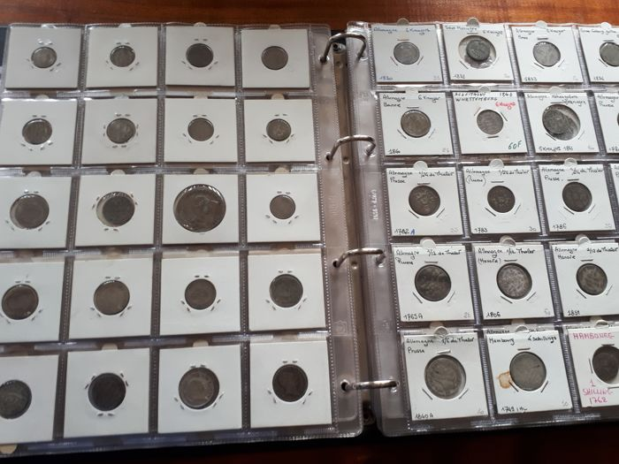Germania - Other 1715 à 1995 - 1535 coins in 6 albums - Other
