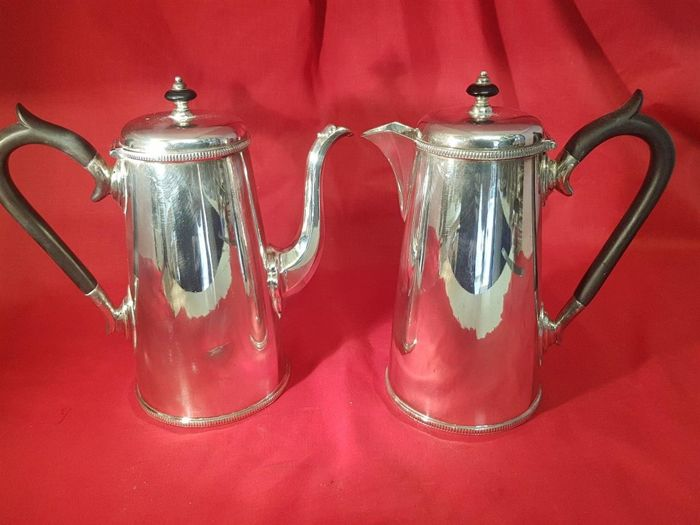 Pair of silver plated coffee pots by James Dixon & Sons of Sheffield