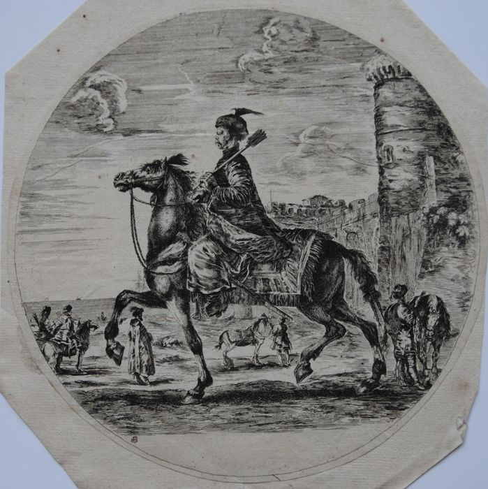 Used, Naar Stefano della Bella (1610-1664) - Polish horseman for sale  London