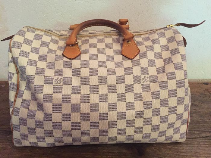 b068086fe5d Louis Vuitton - Speedy 35 Damier Azur Handbag - Catawiki